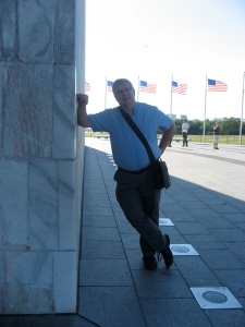 Leaning on the Washington Monument