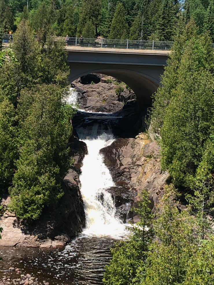 Cross River Falls underneath Highway 61