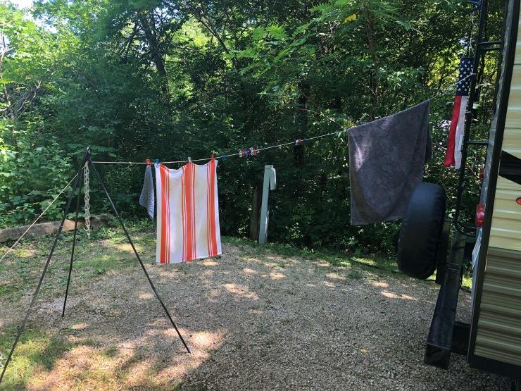 Forestville clothesline tripod