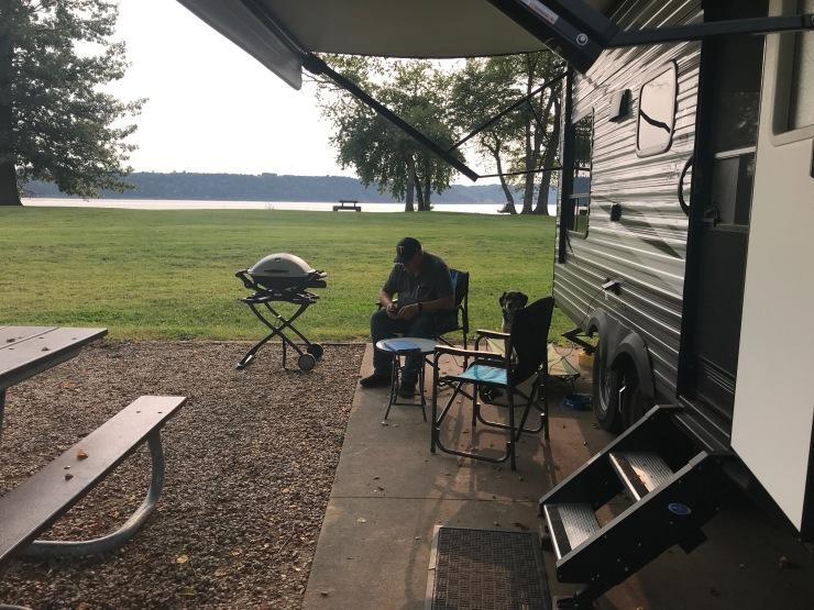 Mississippi River - Grant River campsite setup