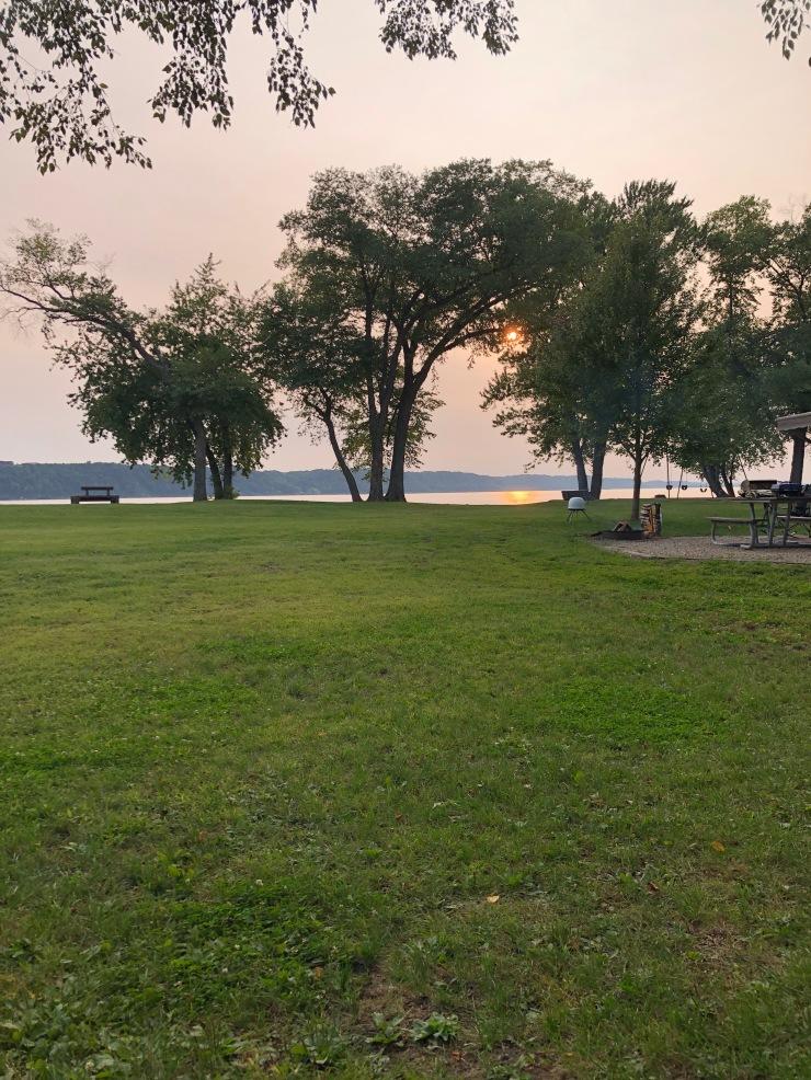 Mississippi RIver - Grant River early sunset