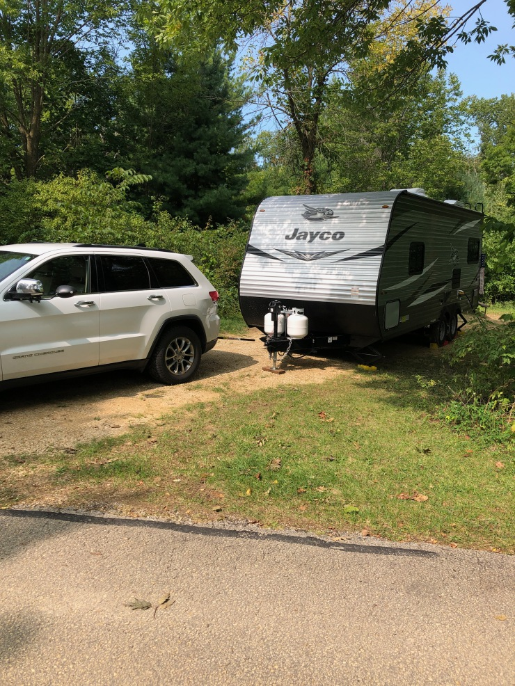 Mississippi River - Wyalusing trailer in campsite front